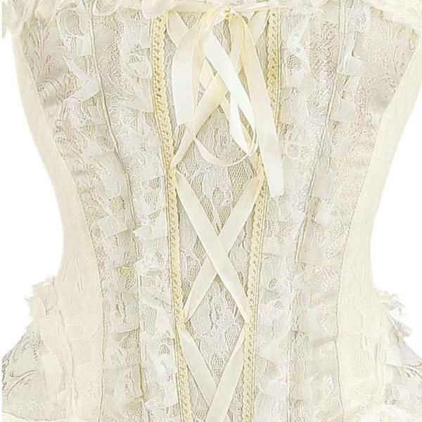 Dress Ophelie Taffeta White Corset