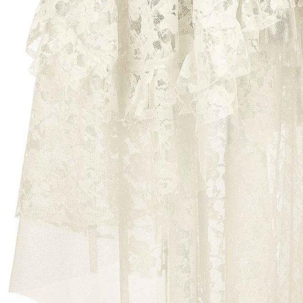 Dress Ophelie Taffeta White Lace