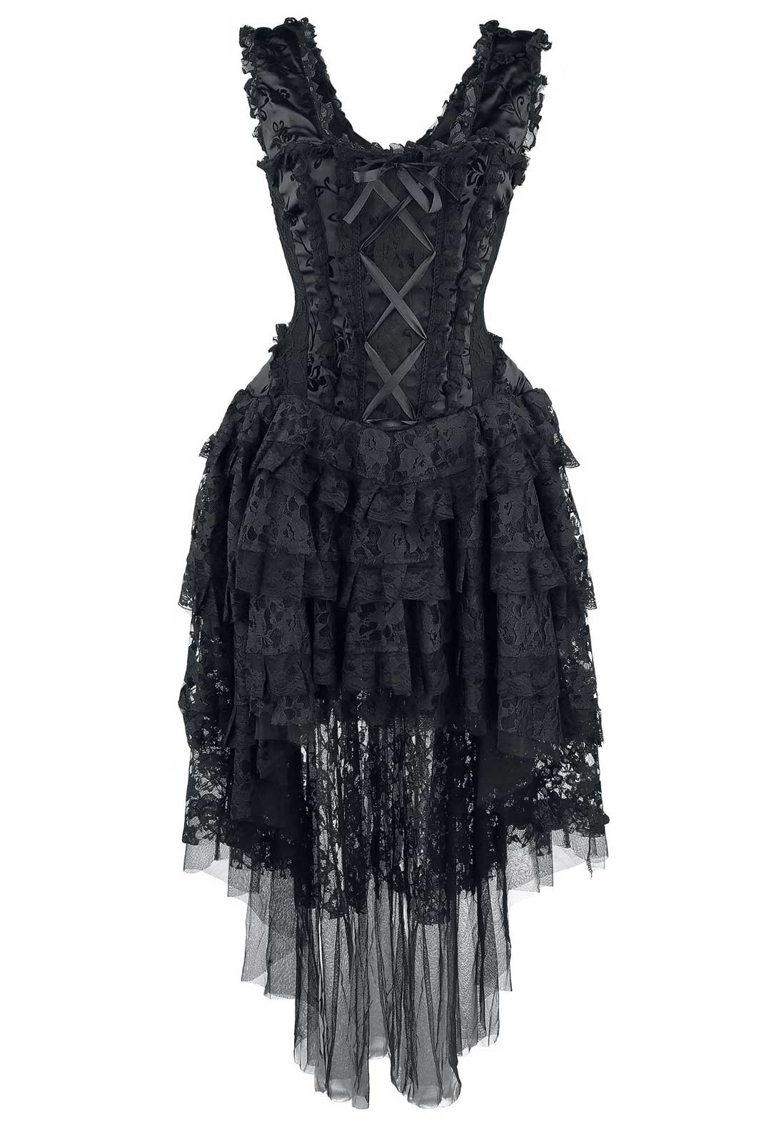 Dress Ophelie Taffeta Black Front