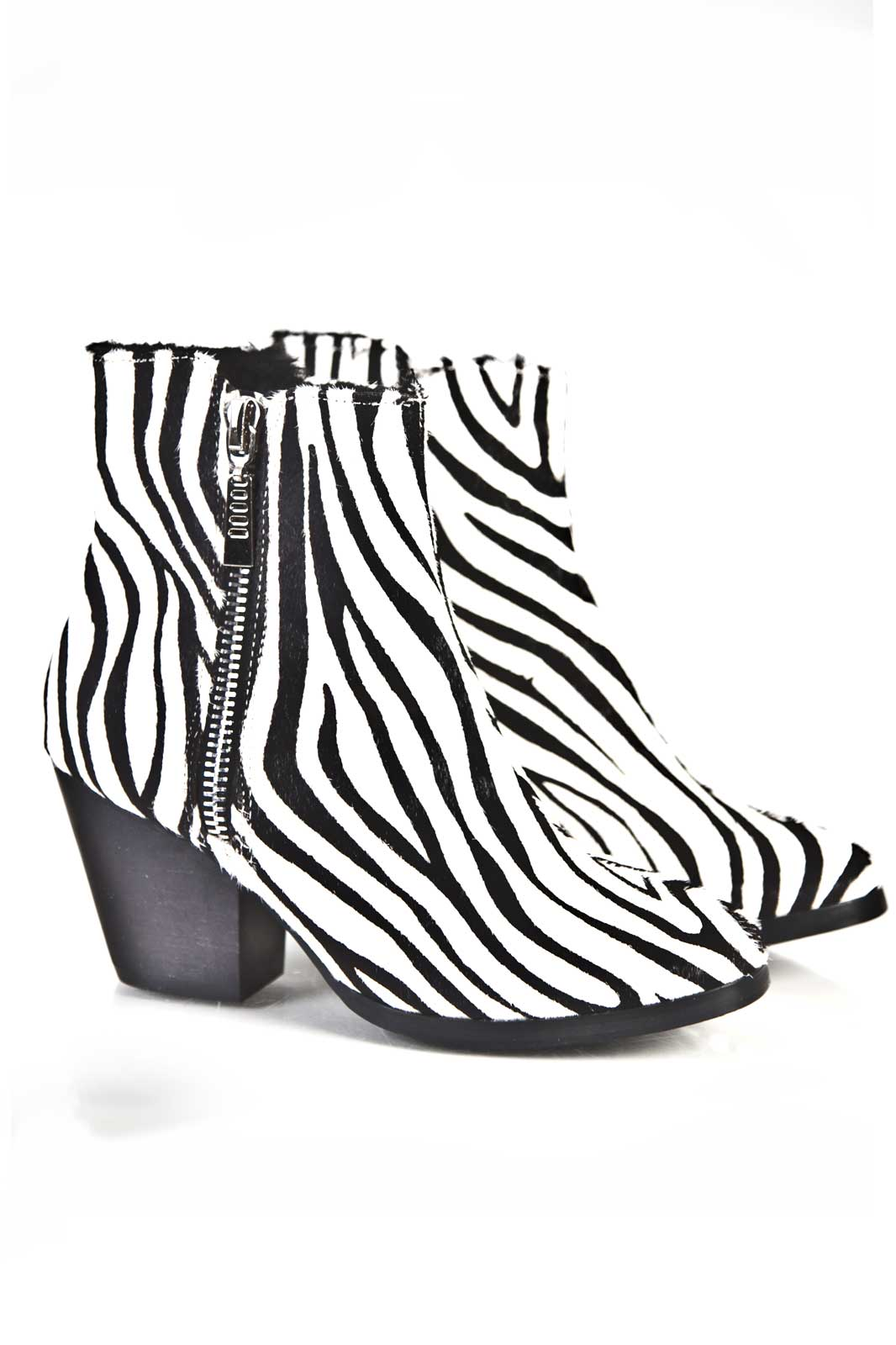 Zebra Fur Boot