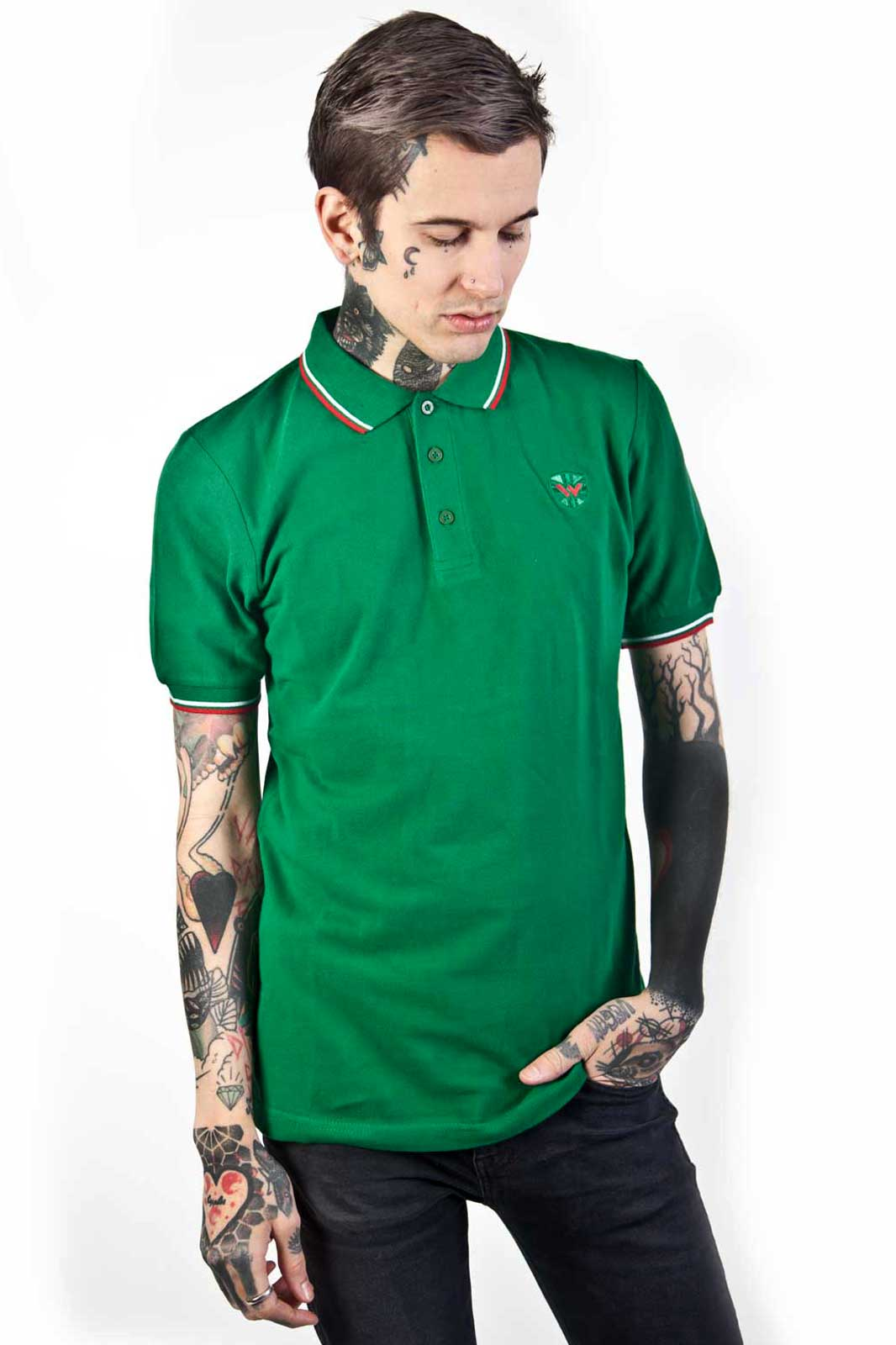 Soul 45 Polo Shirt Green Front