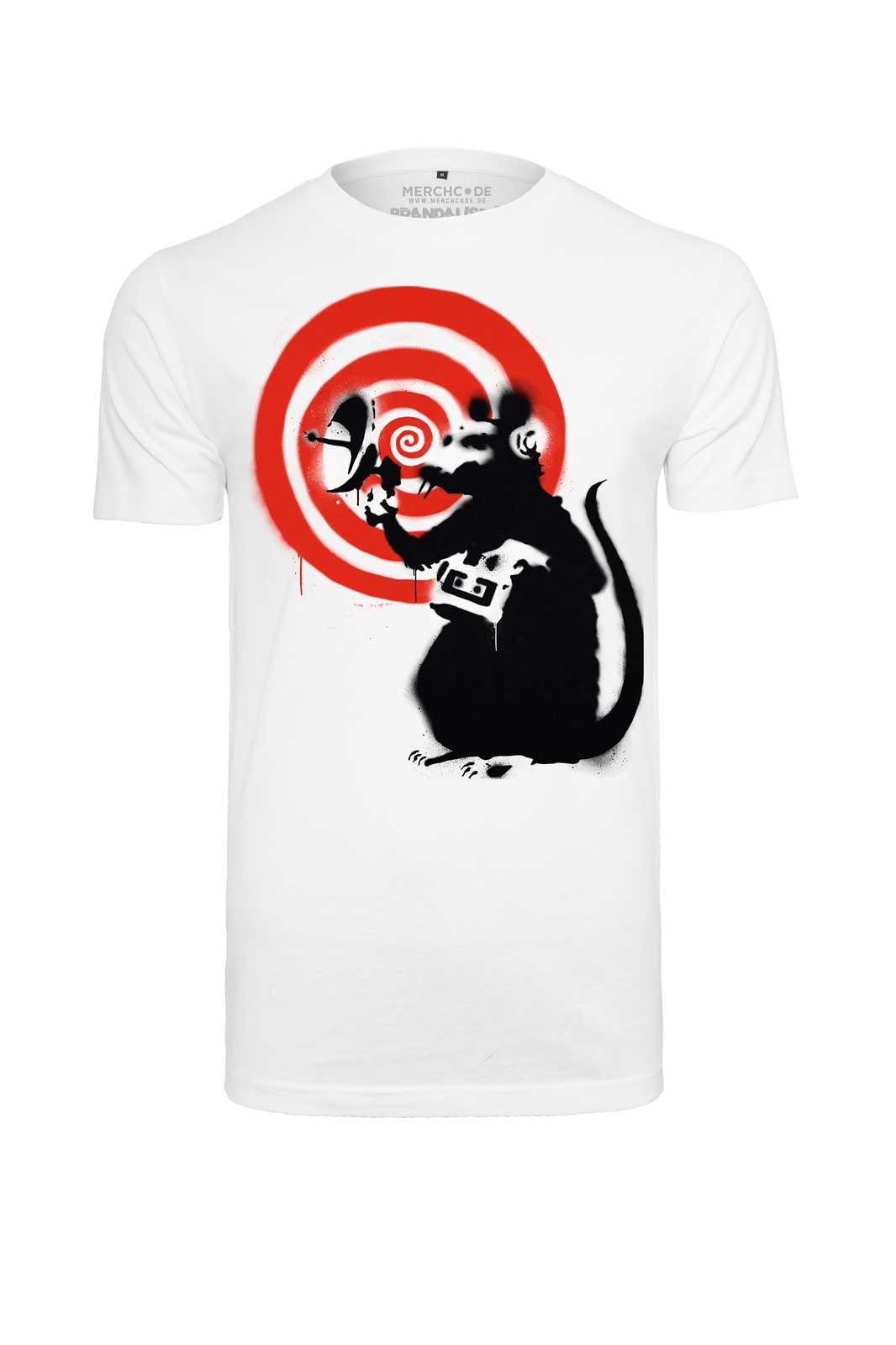 Tee Banksy Spy Rat Front