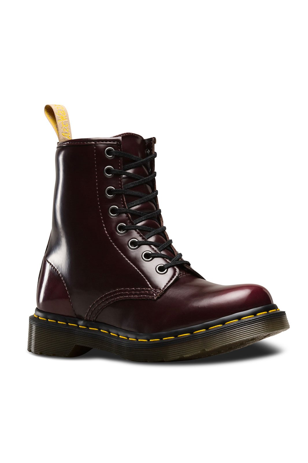 dr martens 1460 vegan cambridge red cherry