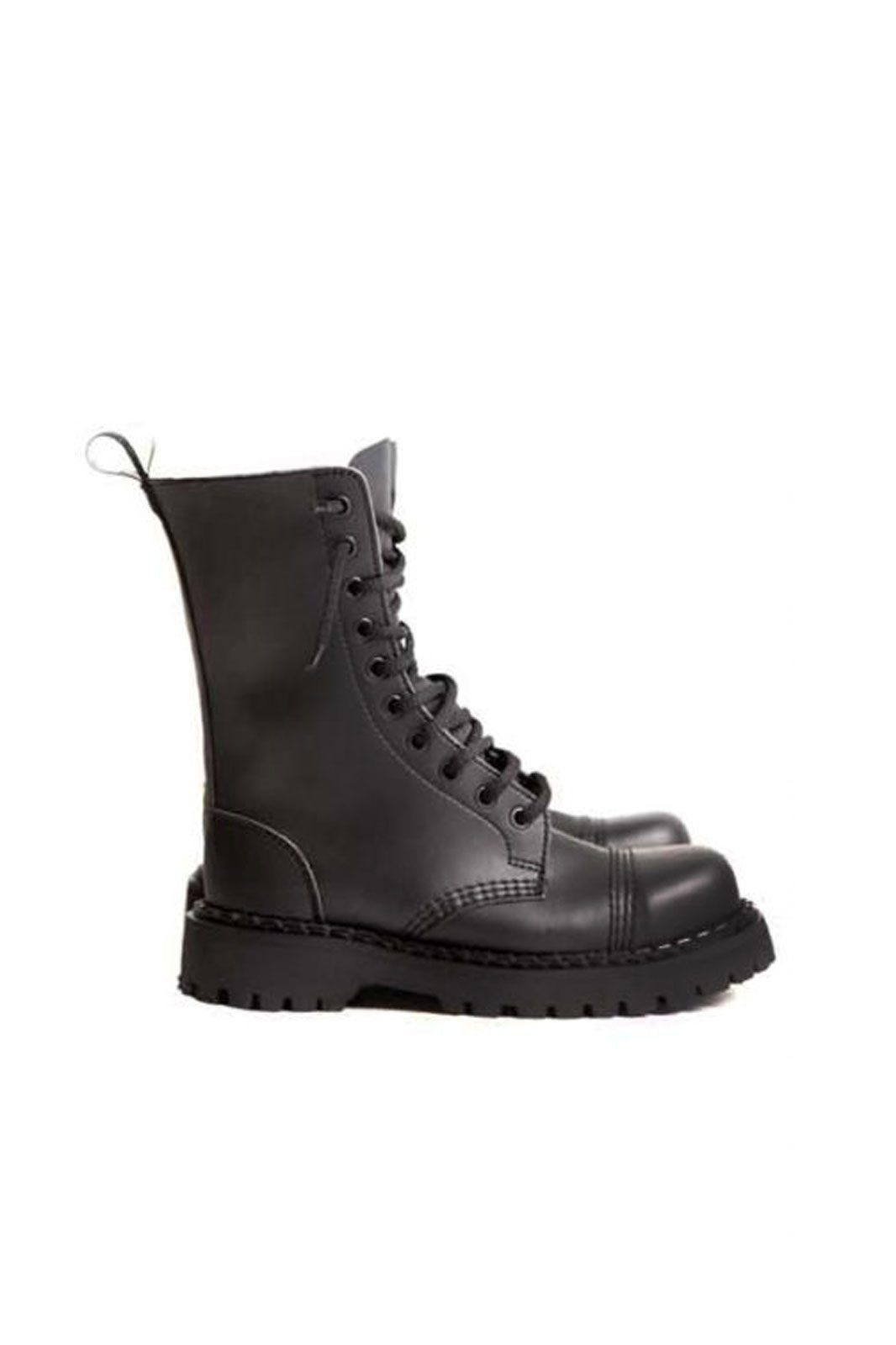 steelground 10 eye steel toe vegan boots