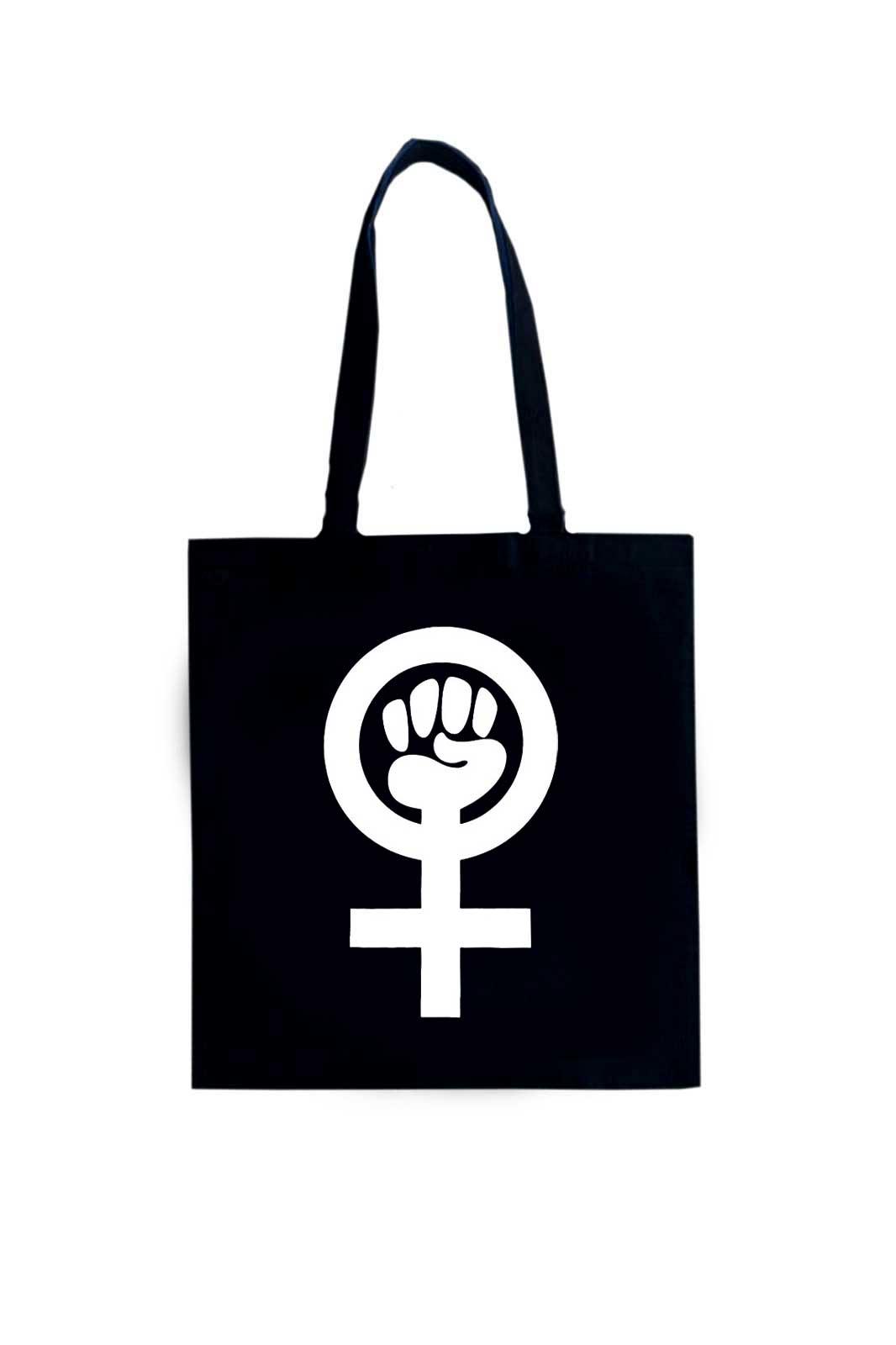shock store feminist tote bag