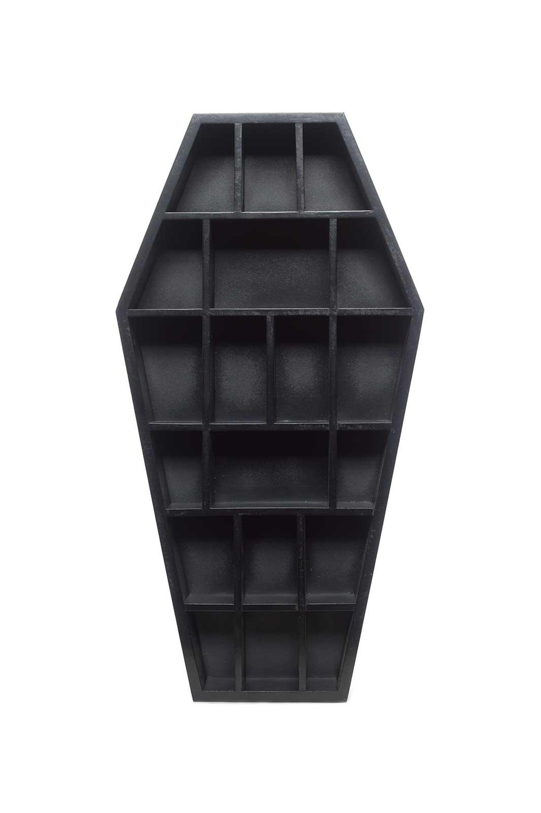 sourpuss curio coffin shelf