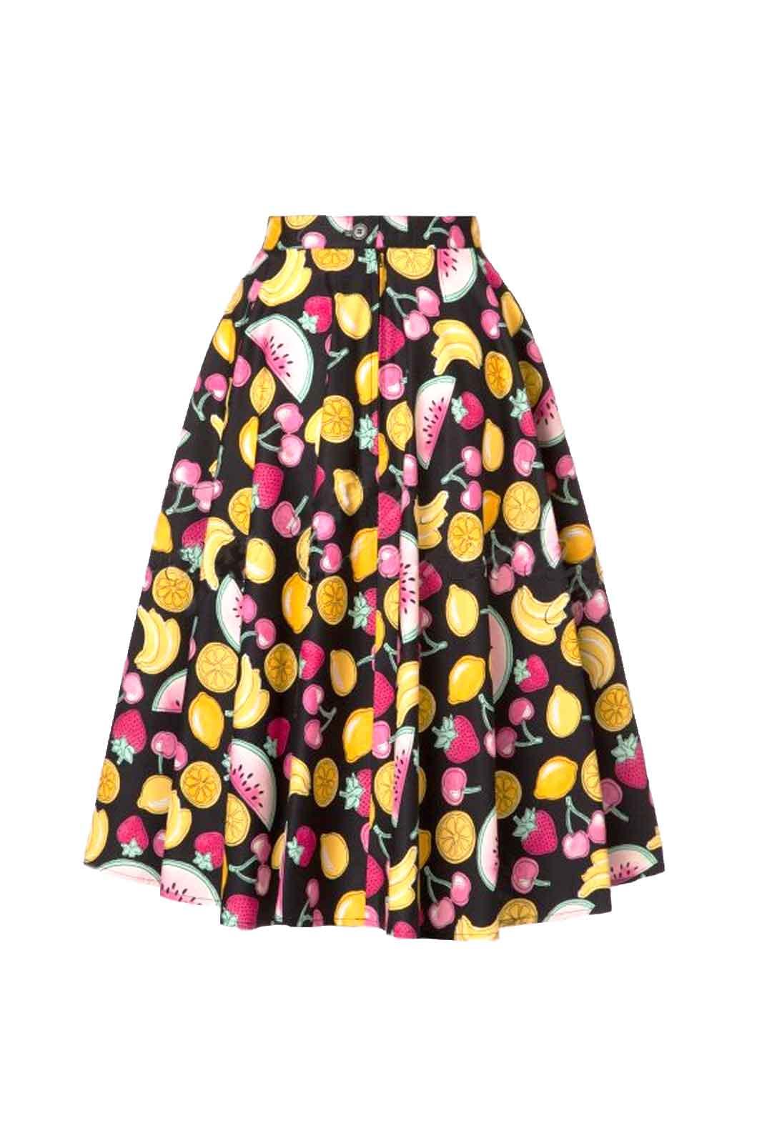 hell bunny tutti fruti 50s skirt