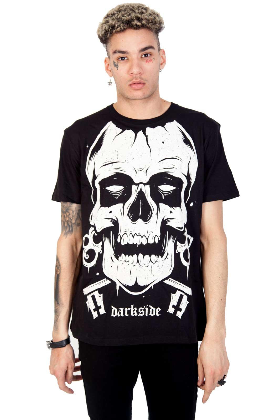 darkside giant skull tee black
