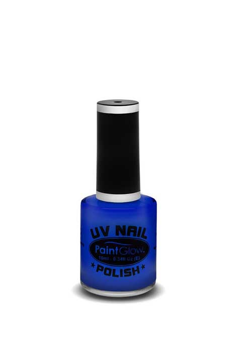 paint glow uv nail polish blue
