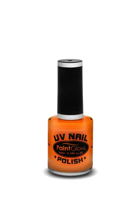 paint glow uv nail polish orange