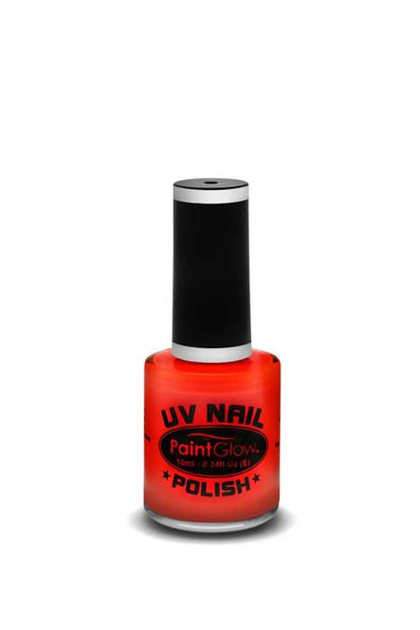 paint glow uv nail polish red