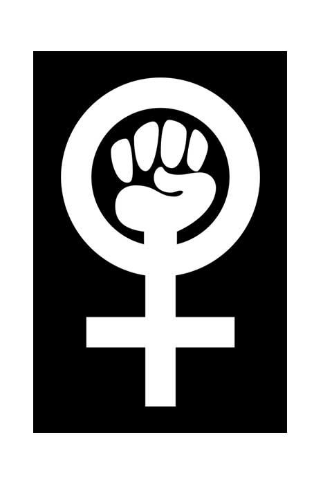 shock store feminist vykort