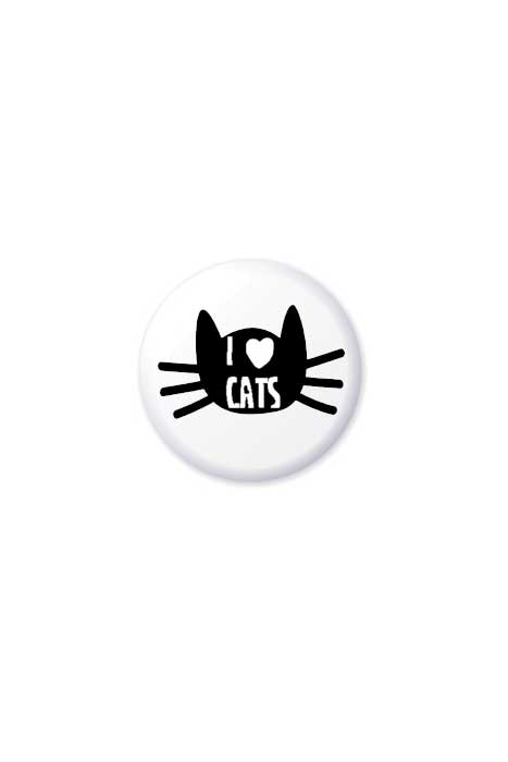 extreme largeness i love cats badge