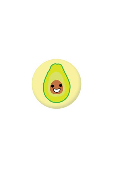 extreme largeness avocado badge