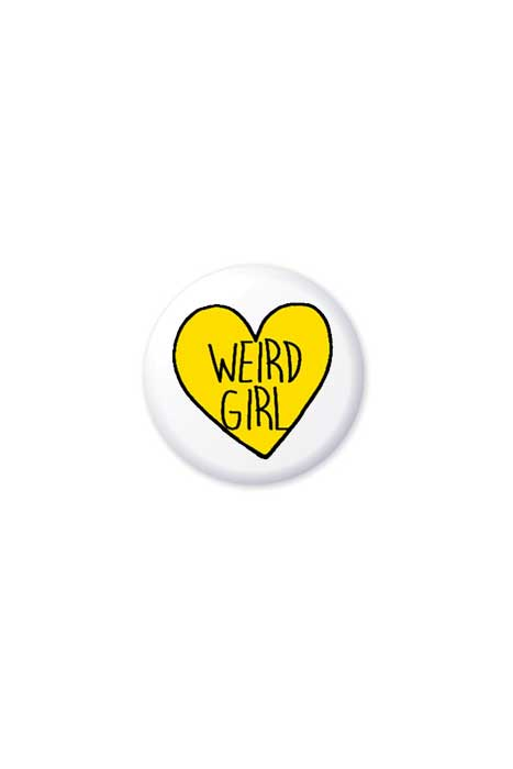 extreme largeness weird girl badge
