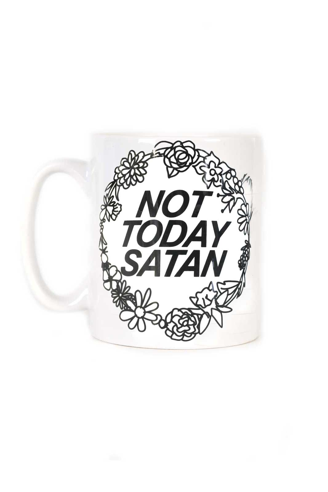 extreme largeness not today satan mug