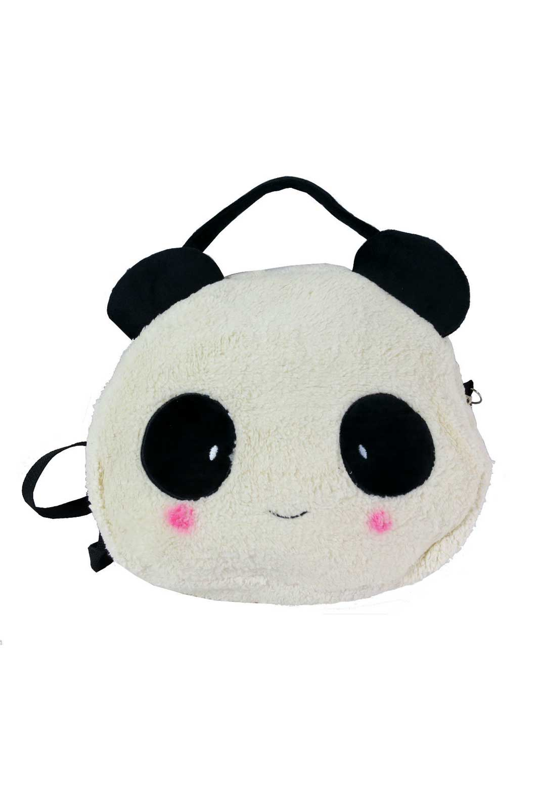chok fluffy panda bag