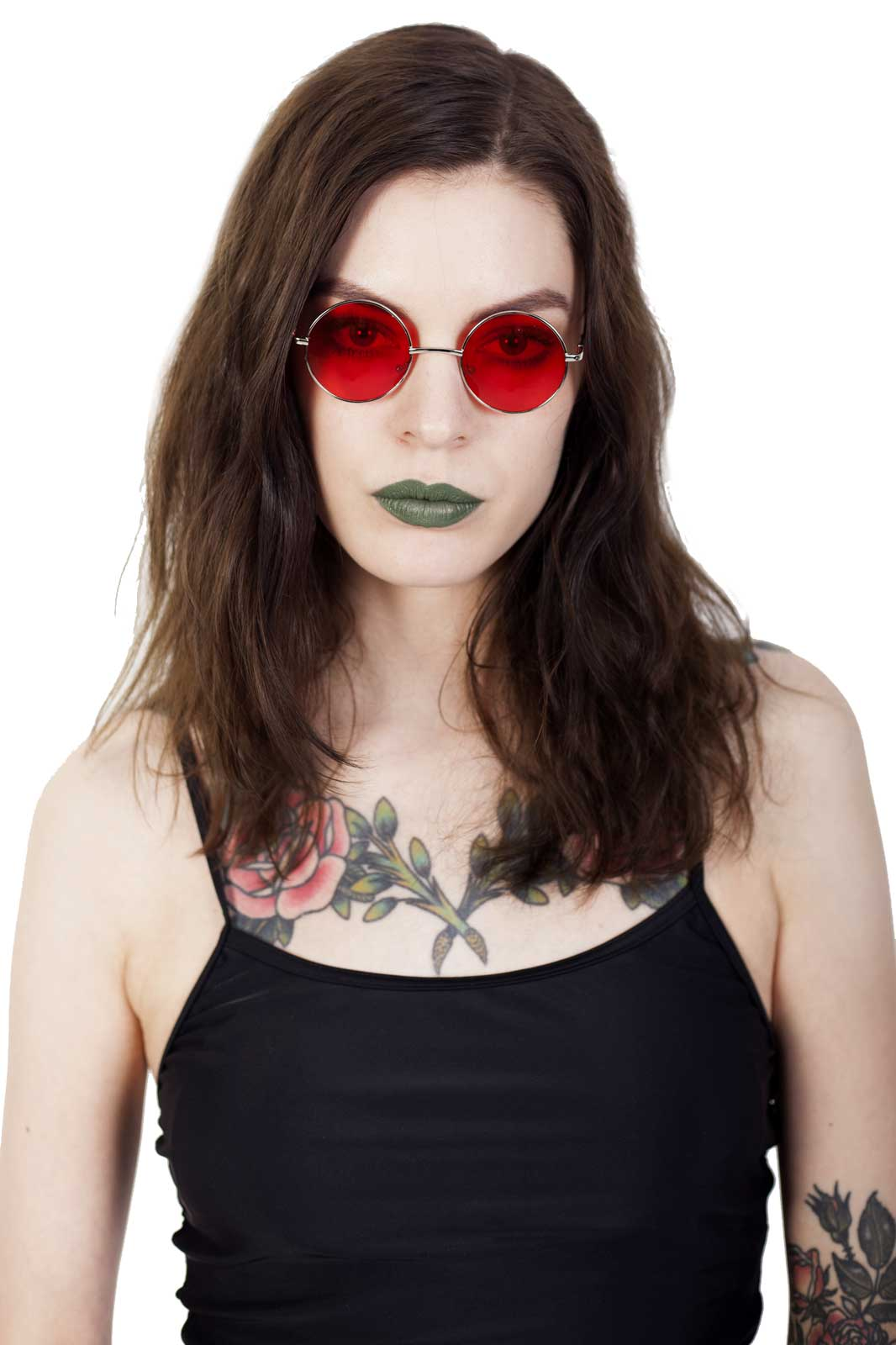 Lennon Small Sunglasses Red