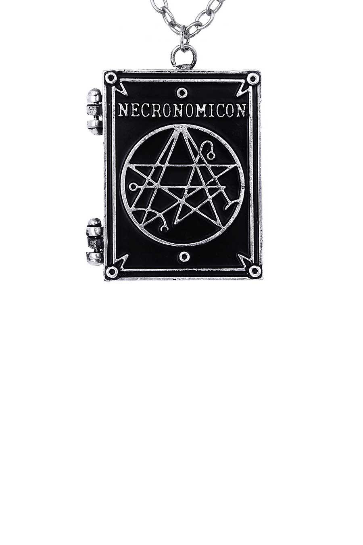 restyle necronomicon book locket pendant