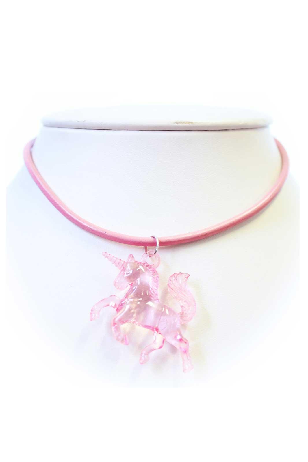 Unicorn Cord Choker Pink