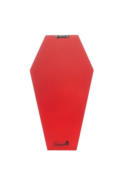 Coffin Wall Shelf Red