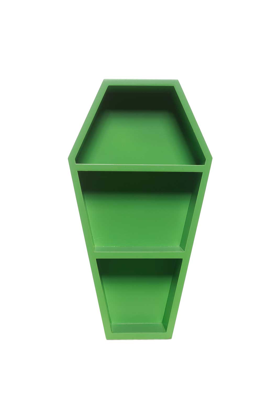 Coffin Wall Shelf Green