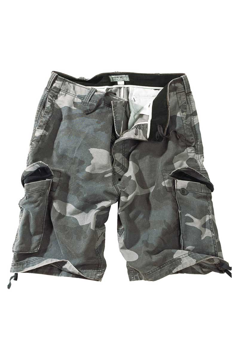 Vintage Shorts Washed Night Camo