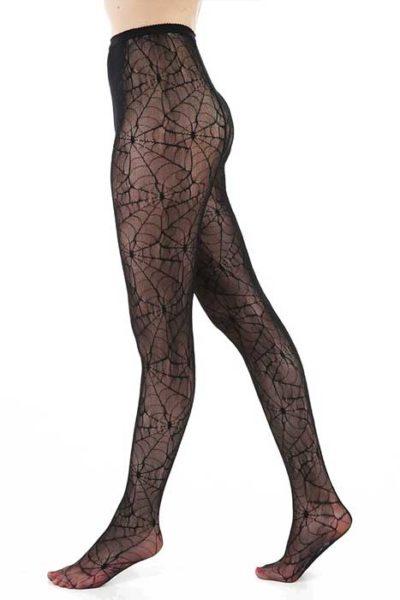 All Over Cobweb Lace Tights