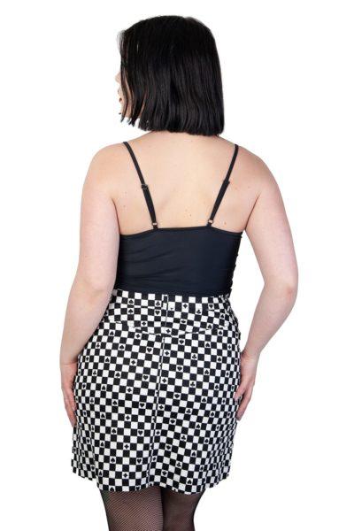 Pokerface Mini Skirt -white