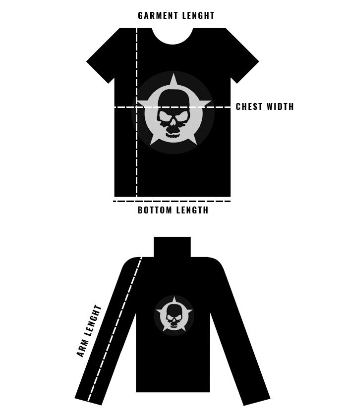 Storleksguide t-shirts, skjortor och toppar