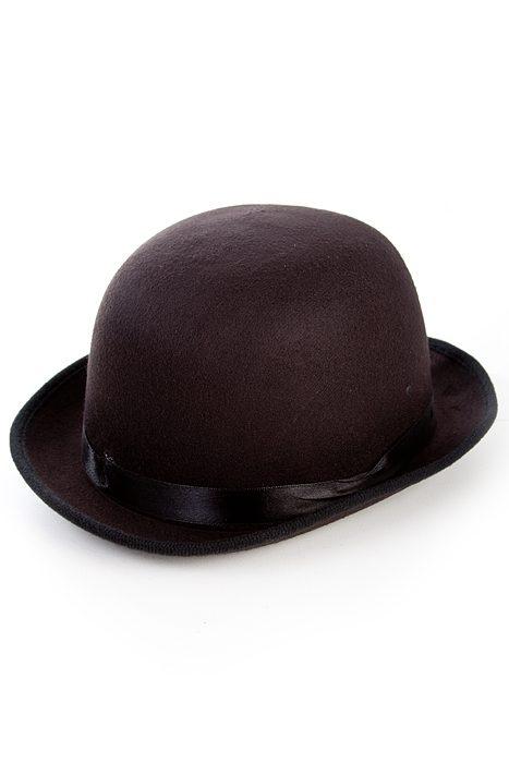 Deluxe Felt Bowler Hat Black