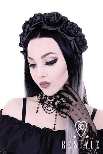 Black Roses Gothic Hairband