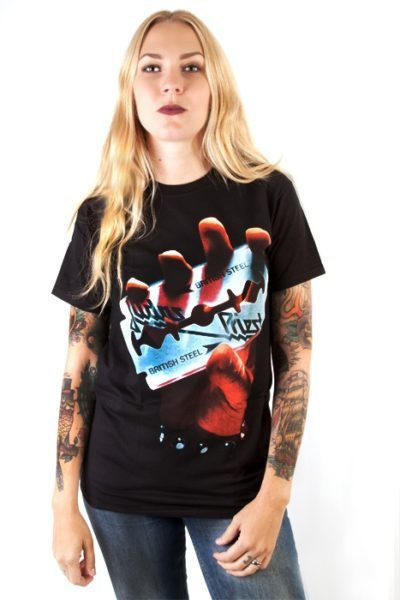offocial merchandise Tee Judas Priest British Steel
