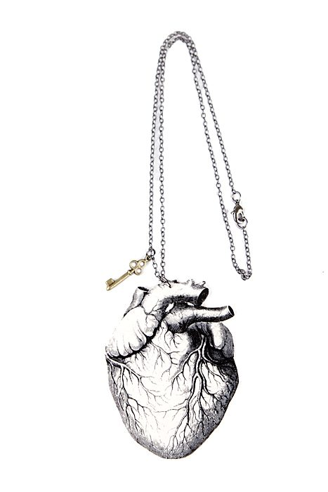 Necklace Anatomical Heart