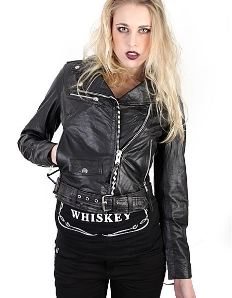 Roll Leather Jacket Black