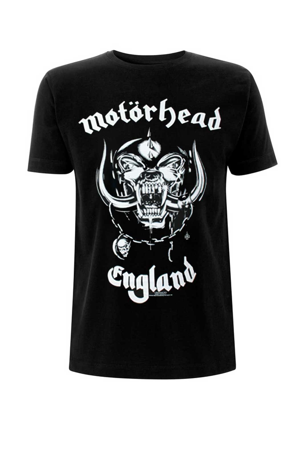 official merchandise motörhead t-shirt england black