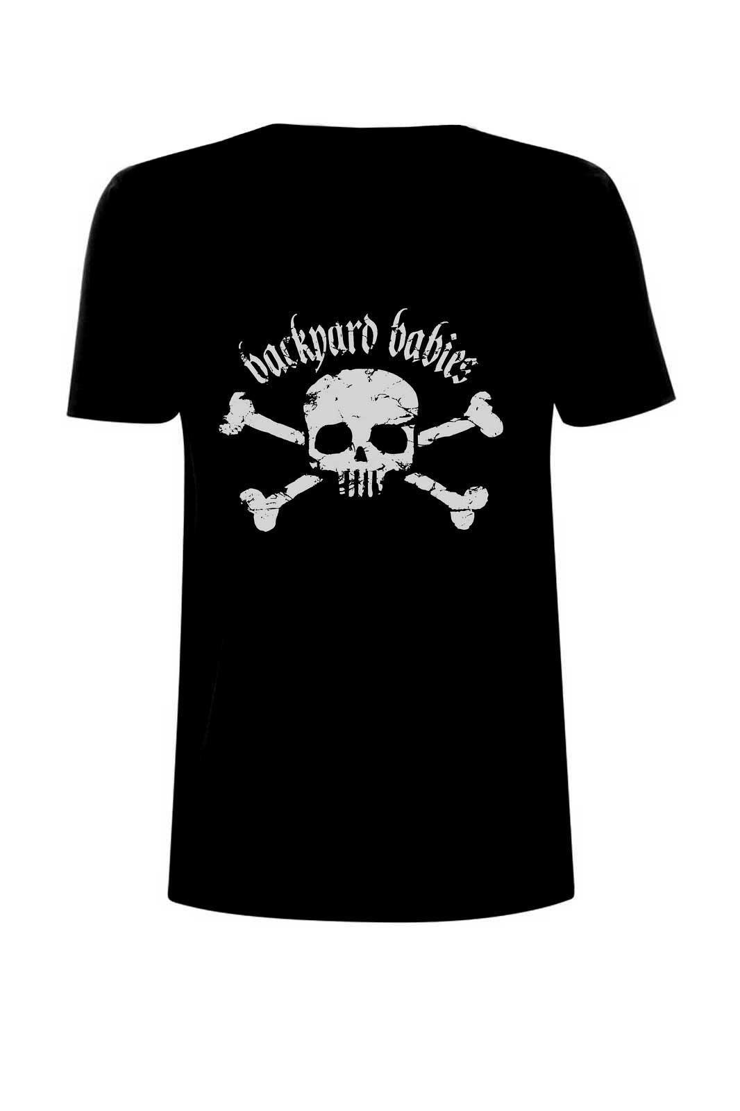 Boys tee backyard babies skull Black