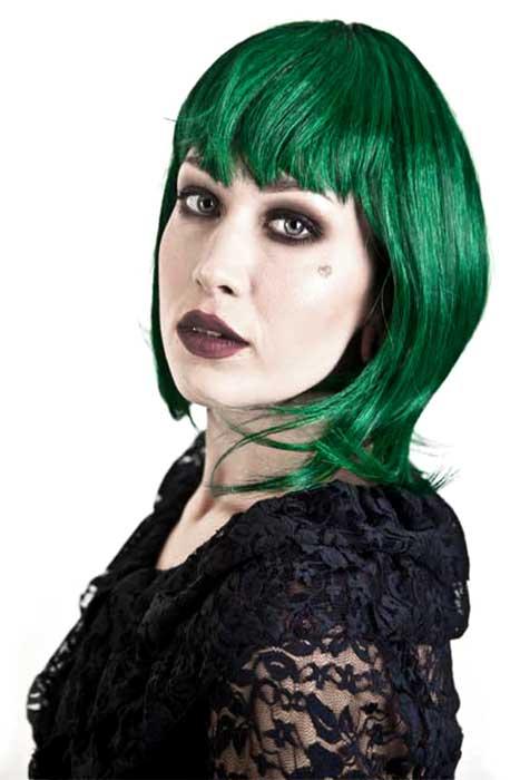 Gothic Vamp Wig Green