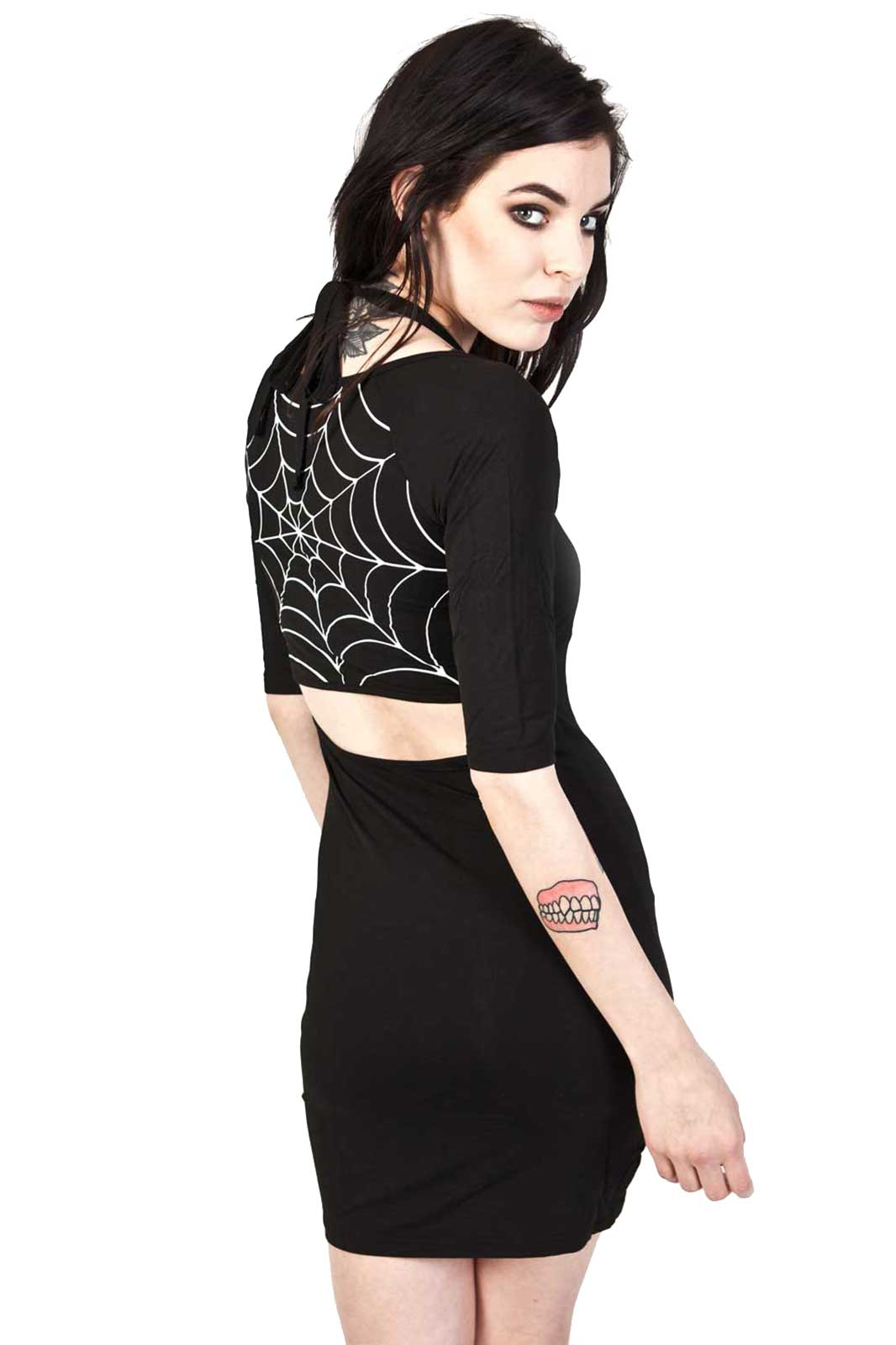 Pencil Dress Spiders Web Baksida