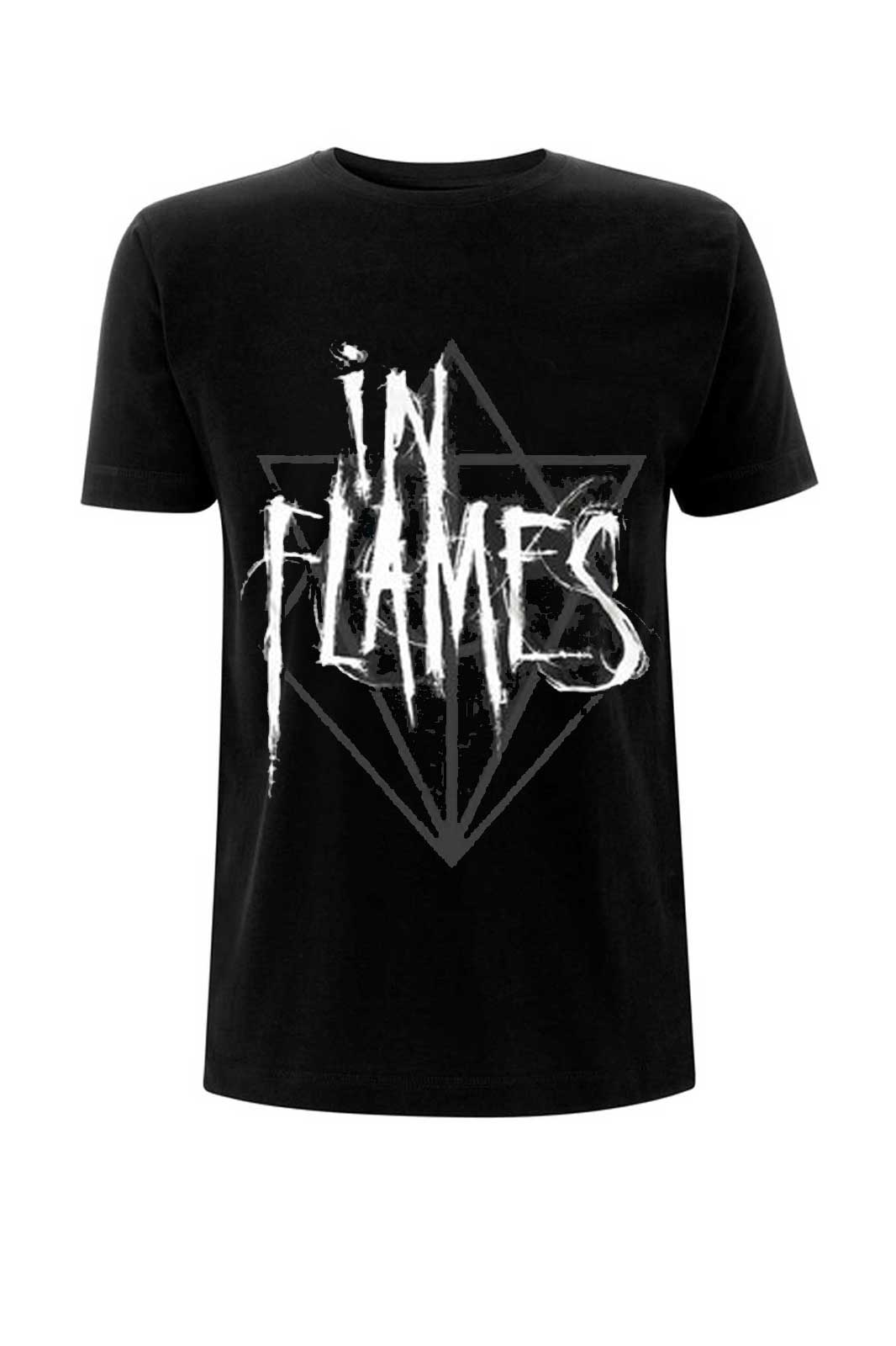 official merchandise tee in flames scratch jesterhead