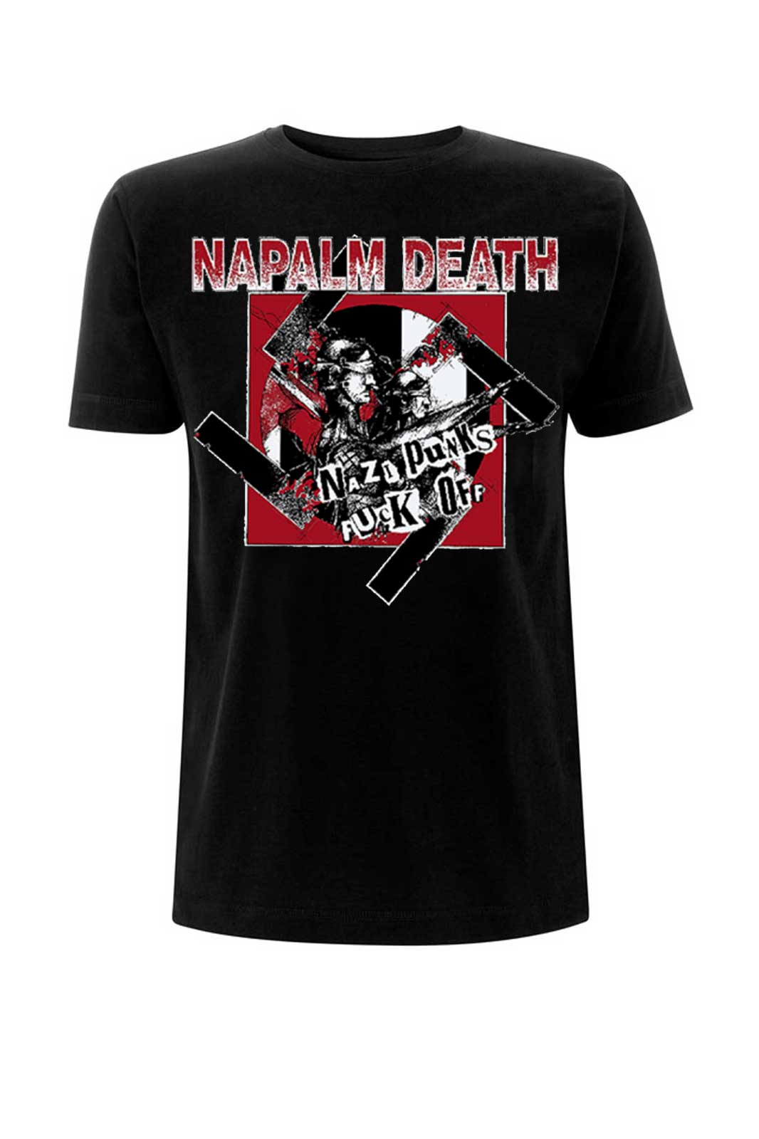 official merchandise tee napalm death nazi punks