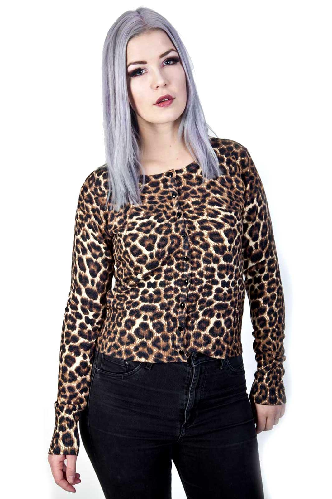 Crazy Love Cardigan Leopard Front