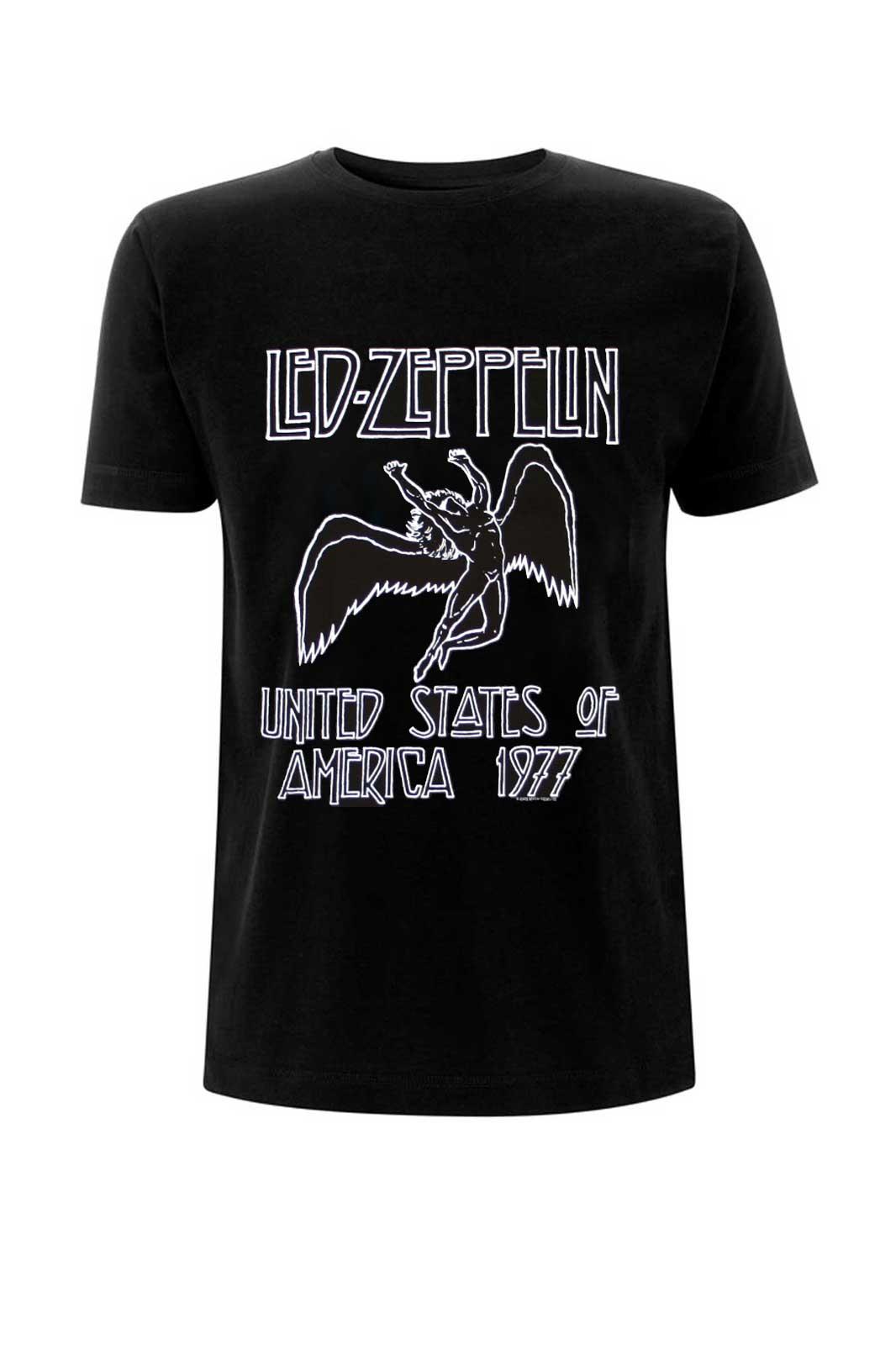 official merchandise tee led zeppelin usa 1977