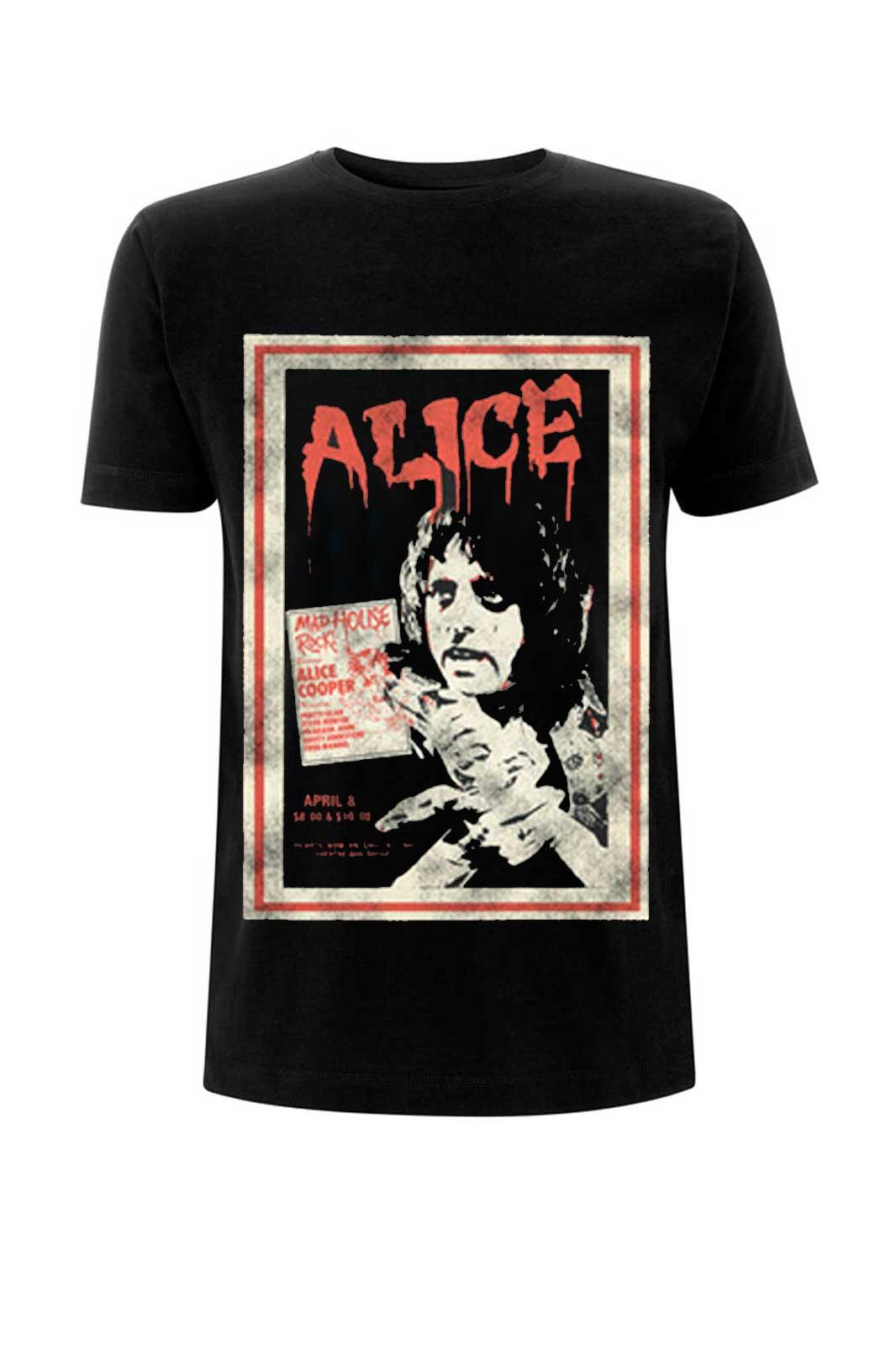 official merchandise tee alice cooper vintage poste