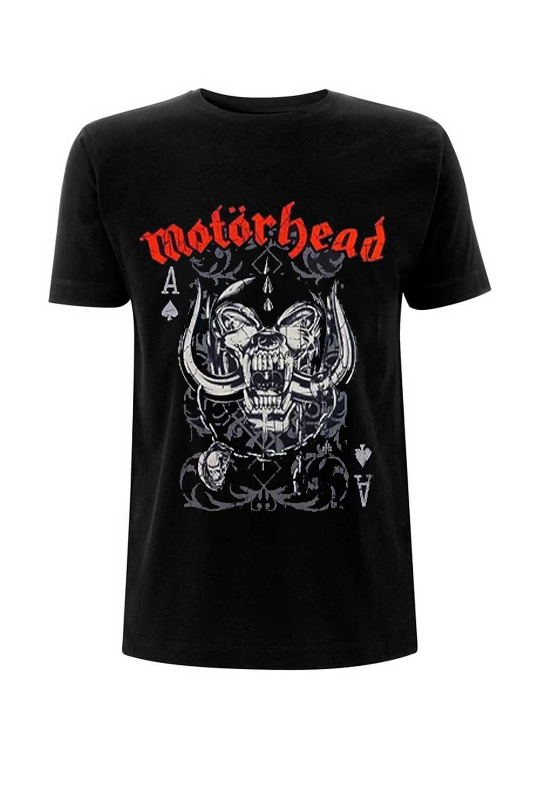 official merchandise tee motörhead playing card