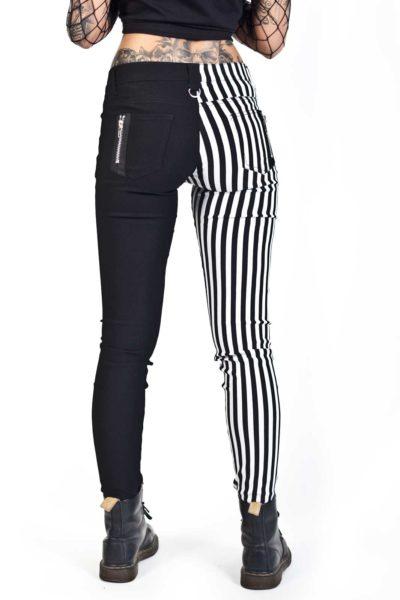 banned split pant stripe bak