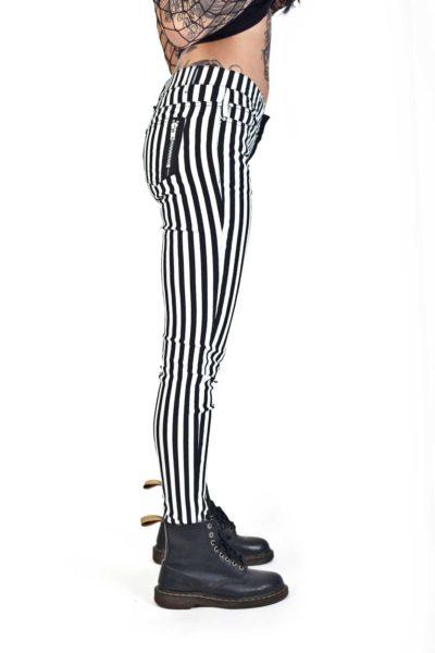 banned split pant stripe sida