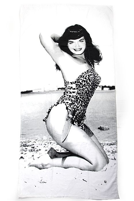 Beach Towel Bettie Page