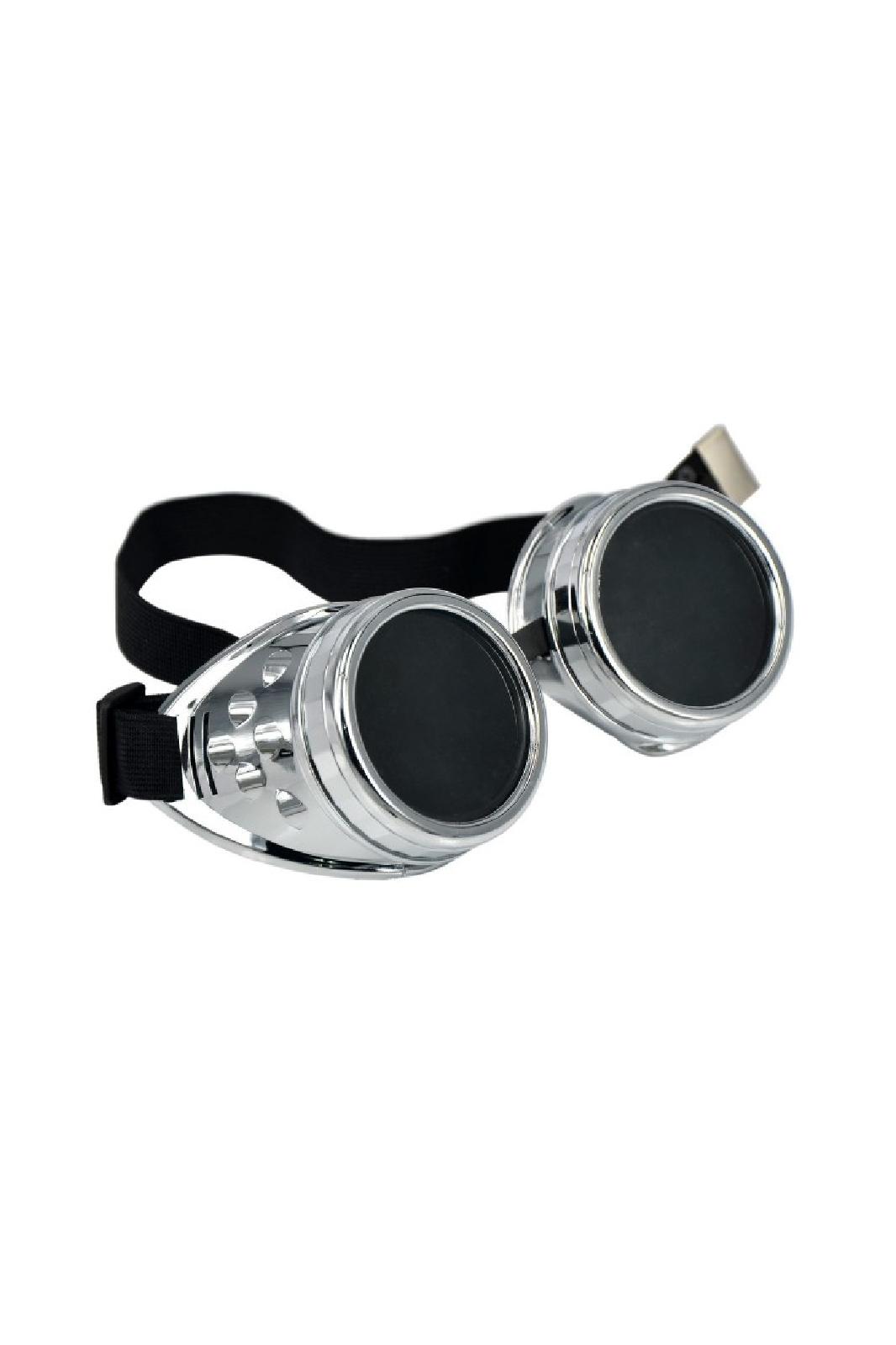 Sp Goggles Rivet Crome Black Lens