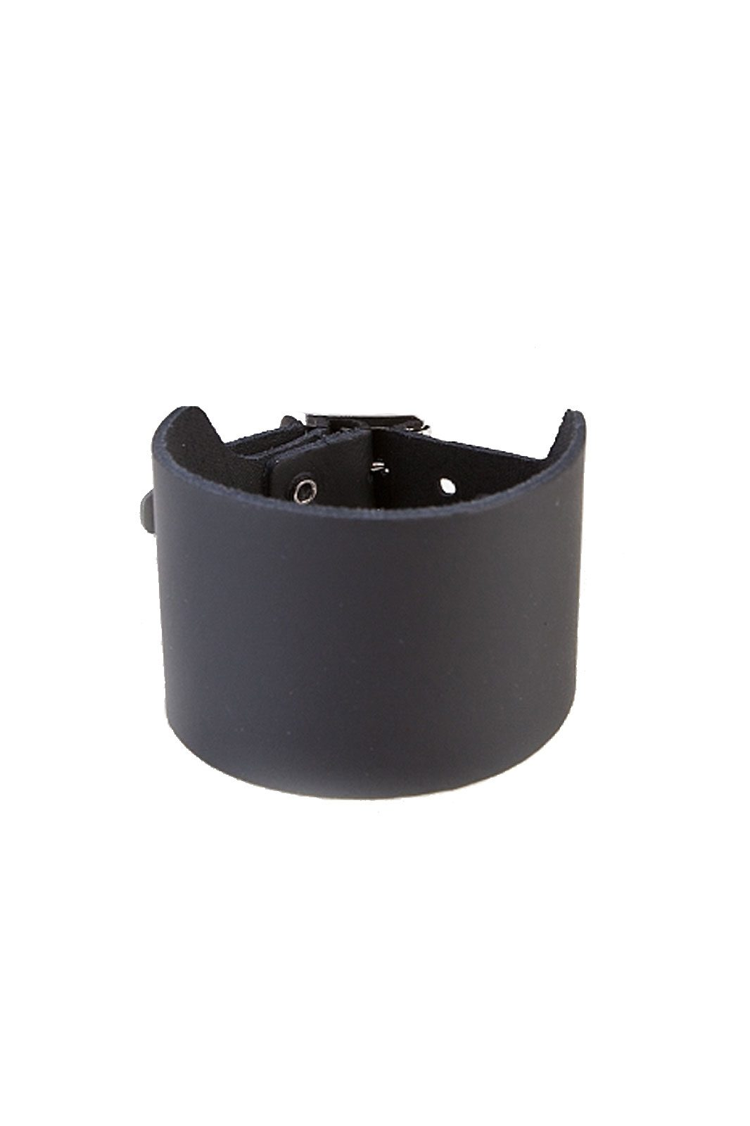 randomizer 3-row plain leather wristband